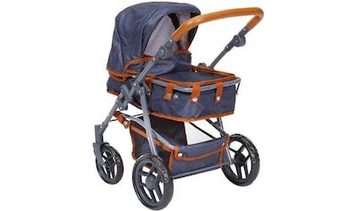 """Knorrtoys® Kombi - Puppenwagen """"Juna, dark blue"""" kaufen"""