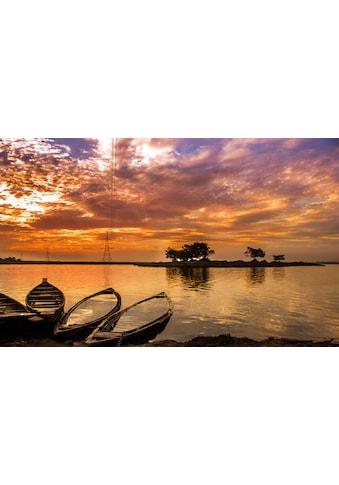 Papermoon Fototapete »Sonnenuntergang in Indien«, Vliestapete, hochwertiger Digitaldruck kaufen