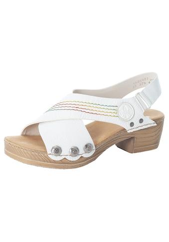 Rieker Sandalette, mit bunter Ziernaht kaufen