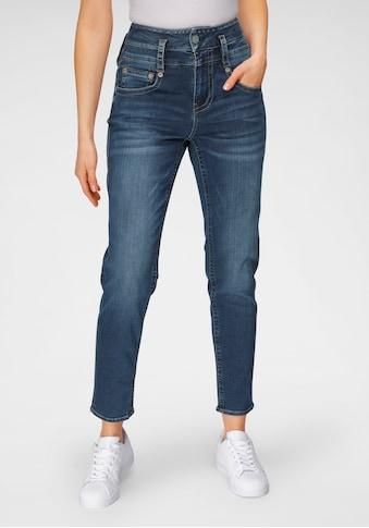 Herrlicher High-waist-Jeans »PITCH HI SLIM REUSED DENIM« kaufen