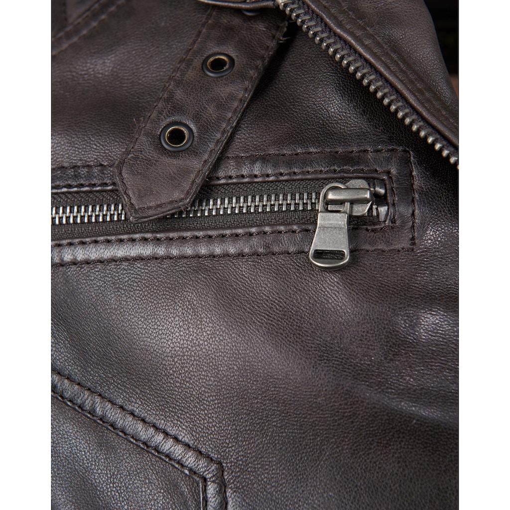 JCC Lederjacke »51167«, Bikerlederjacke mit zwei Brusttaschen