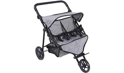 "Knorrtoys® Puppenwagen ""Duo  -  Jeans Grey"" kaufen"