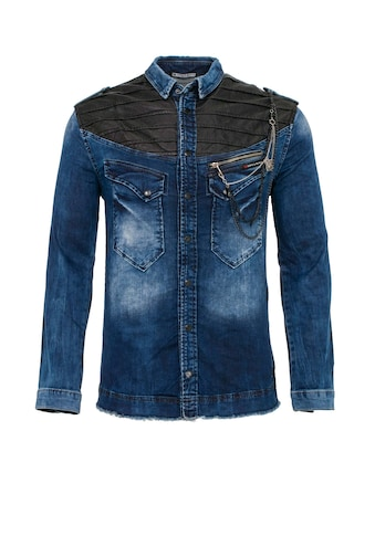Cipo & Baxx Jeanshemd »Skulled Wings« kaufen