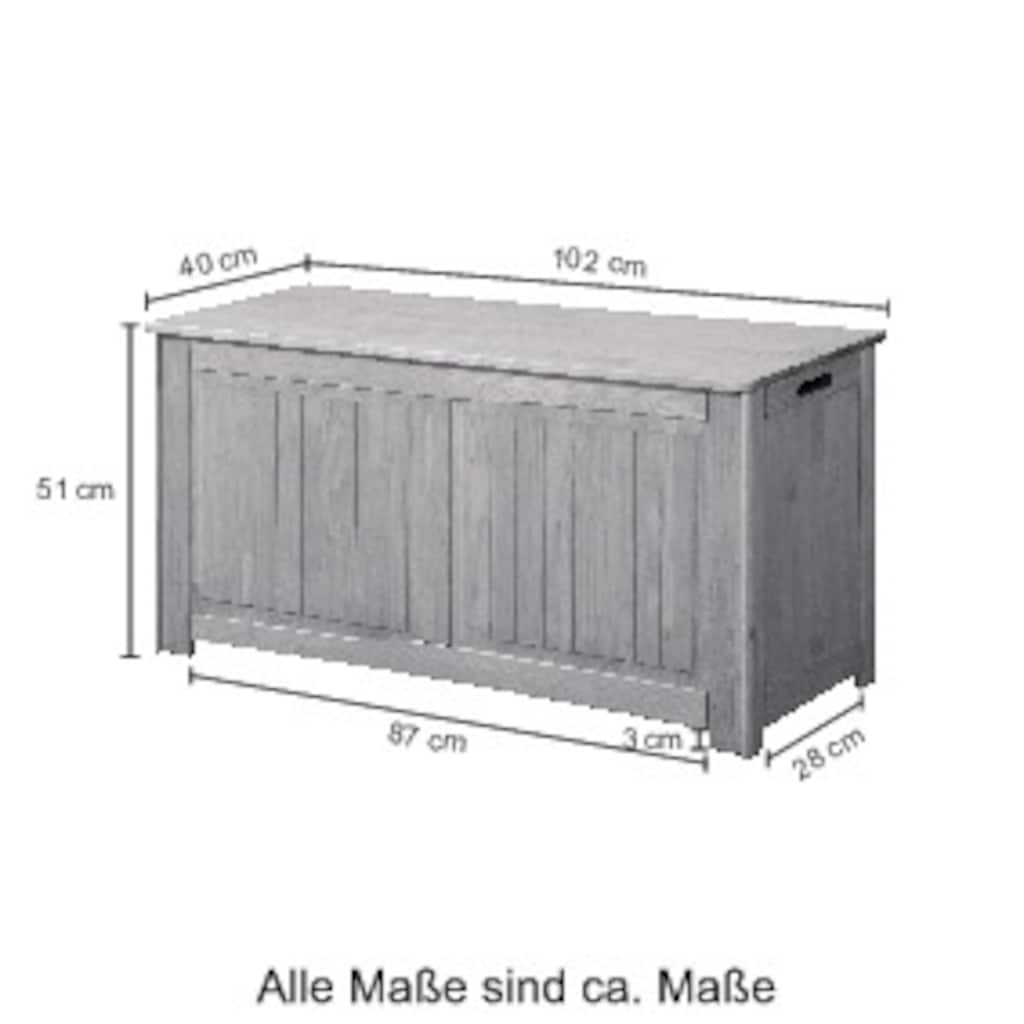 welltime Wäschekorb »Venezia«, Breite 102 cm, aus Massivholz