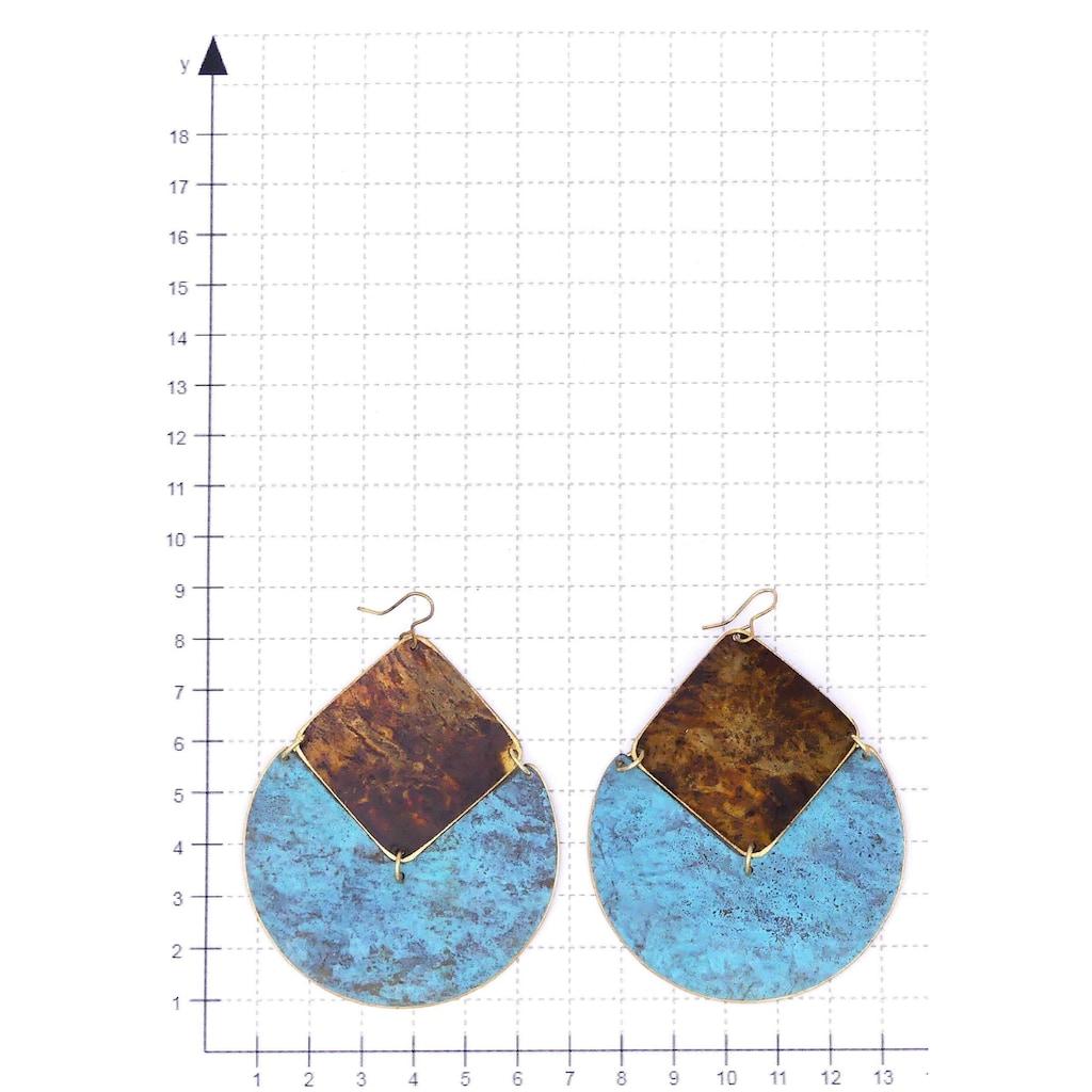 J.Jayz Paar Ohrhaken »im grafischen Design, rund, quadratisch«