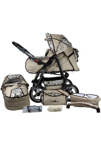 bergsteiger Kombi-Kinderwagen »Rio, beige circles, 3in1«, mit Lufträdern; Made in Europe kaufen