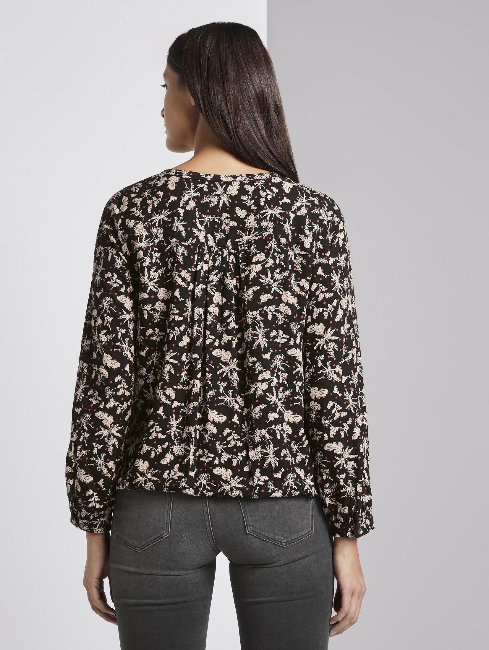TOM TAILOR Shirtbluse Gemusterte Bluse mit Allover-Print