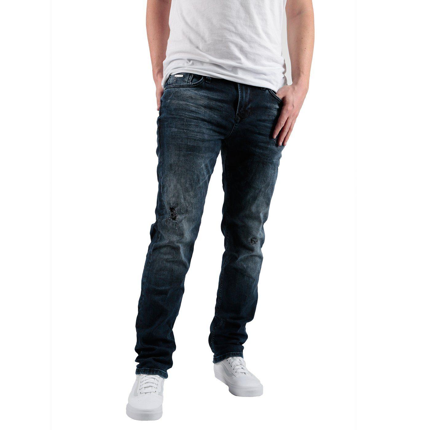Miracle of Denim Jeans im Used-Look | Bekleidung > Jeans > Sonstige Jeans | Blau | Miracle Of Denim