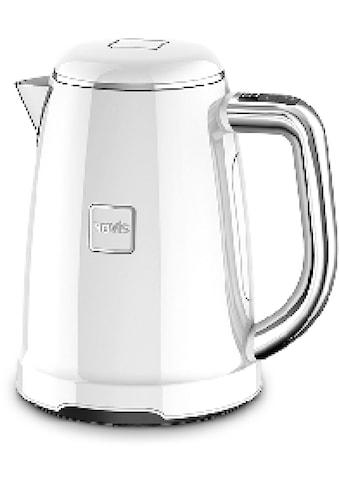 NOVIS Wasserkocher »KTC1 weiss«, 1,6 l, 2400 W, mit elektronischer Temperatureinstellung, Metallgehäuse kaufen