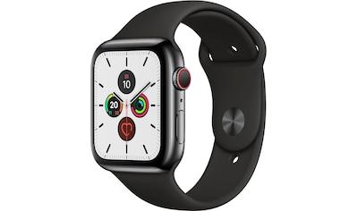 Apple Series 5 GPS + Cellular, Edelstahl mit Sportarmband 44mm Watch (Watch OS 6) kaufen