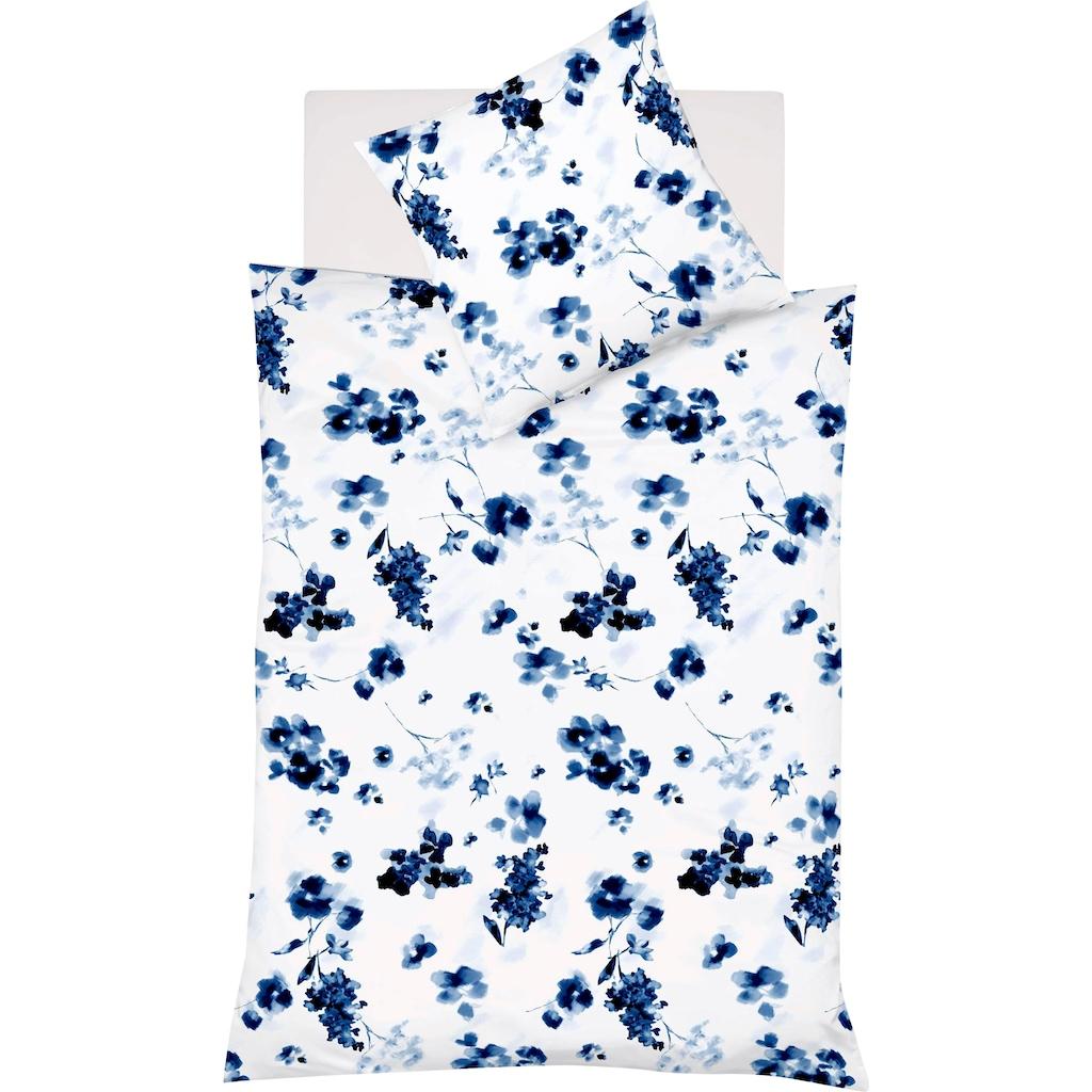 fleuresse Wendebettwäsche »Provence Cassis 344103«, Aquarellblüten