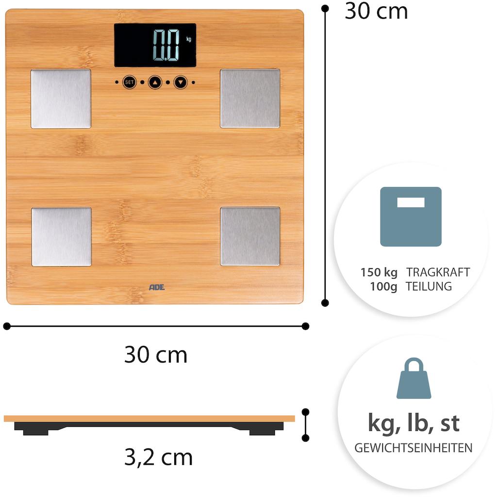 ADE Körper-Analyse-Waage »BA 914 - Barbara«, aus echtem Bambus