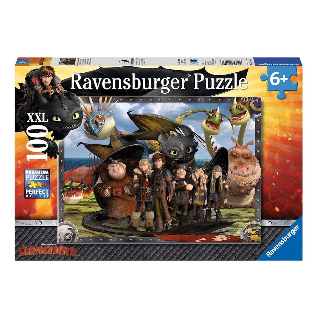 """Ravensburger Puzzle """"Dragons, Ohnezahn und seine Freunde"""""""