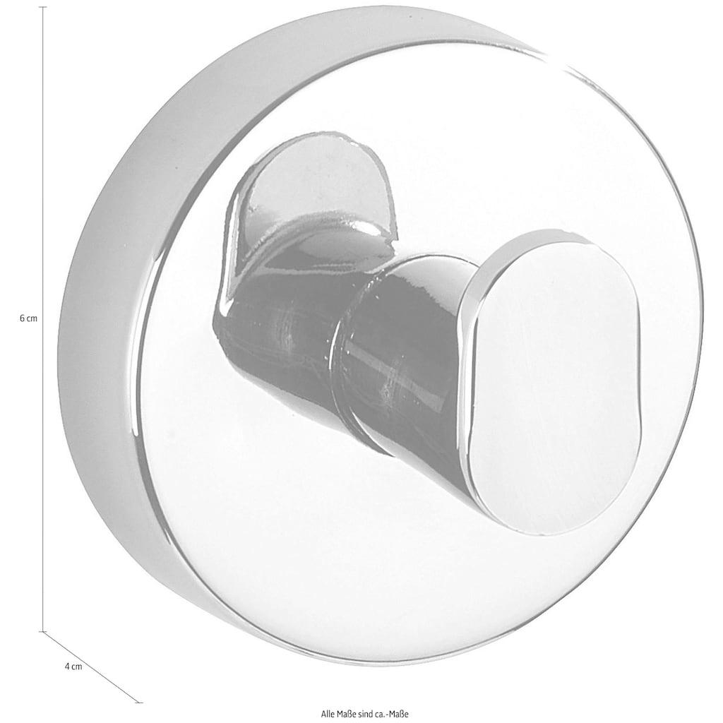 WENKO Handtuchhaken »Capri«, Wandhaken mit Vacuum-Loc® Saug-System