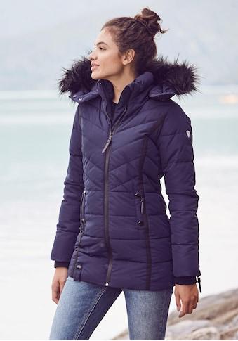 ALPENBLITZ Winterjacke »Pistenglück«, hochwertige Steppjacke m. voluminöser Fellimitat-Kapuze kaufen