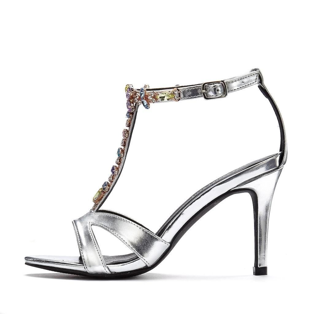 LASCANA High-Heel-Sandalette, mit Schmucksteinen