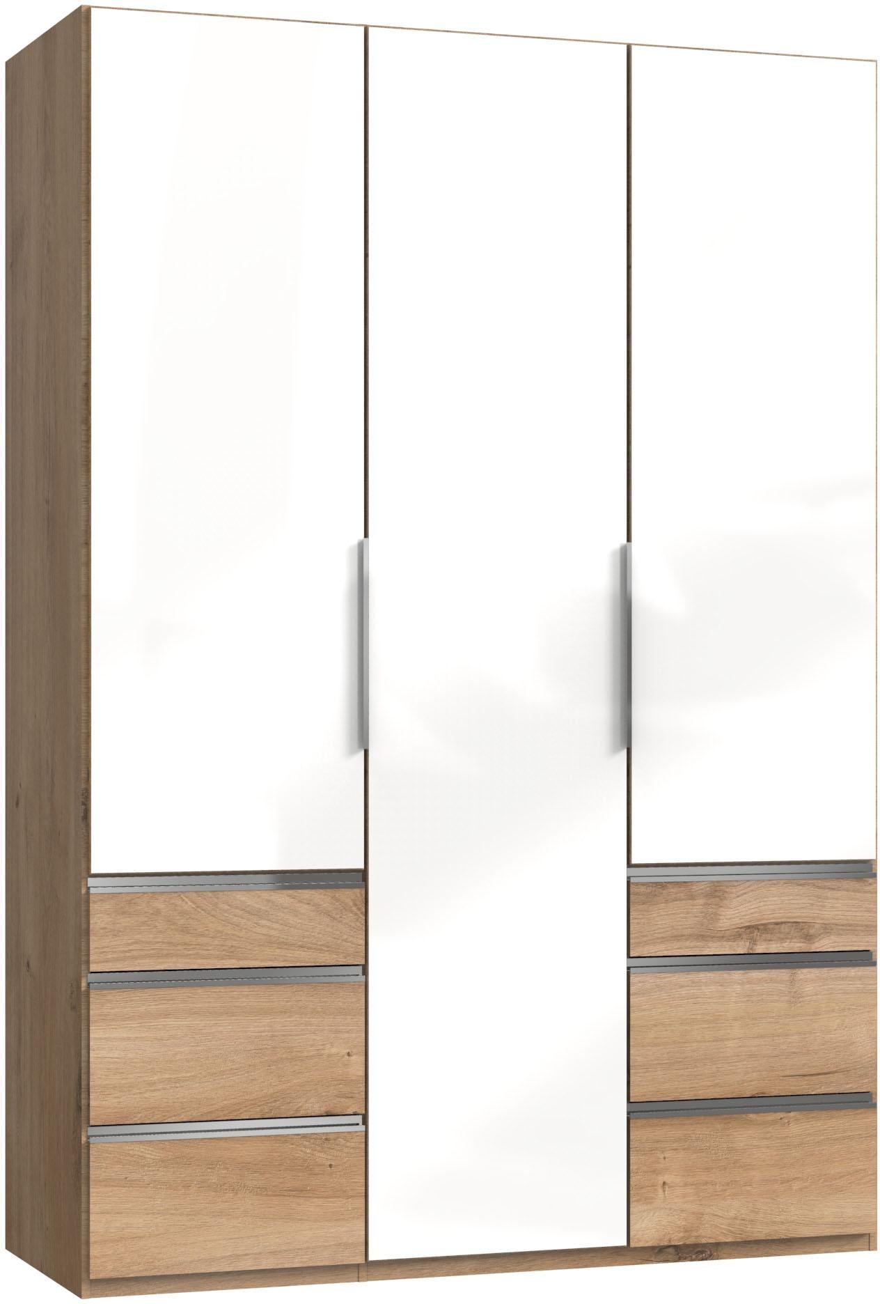 Fresh To Go Kleiderschrank »Level«, mit Glastüren | Schlafzimmer > Kleiderschränke > Drehtürenschränke | Leinen | FRESH TO GO
