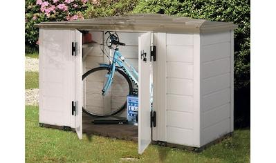 GAROFALO Fahrrad - /Mülltonnenunterstand »EVO LINE 200«, für 3x240 l aus Kunststoff, BxTxH: 202,5x82,5x133 cm kaufen
