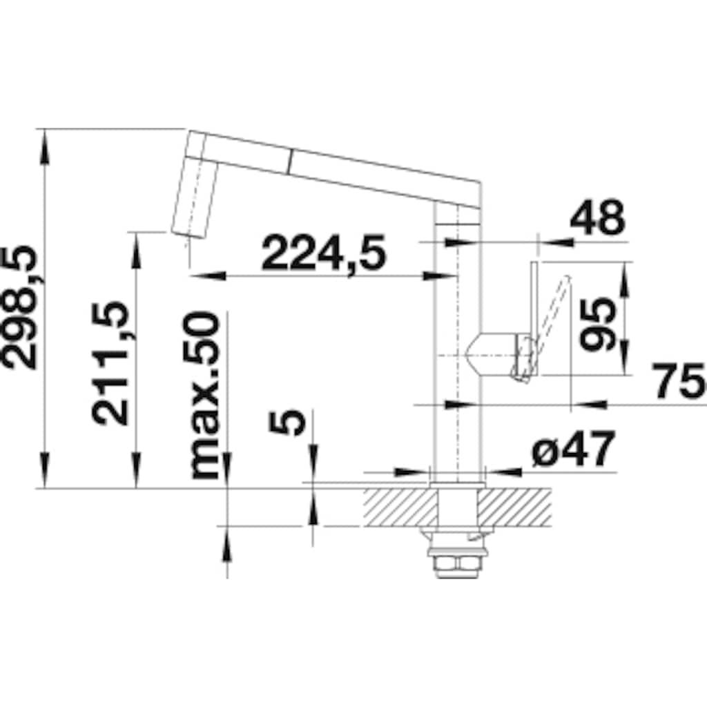 Blanco Küchenarmatur »PANERA-S«, Hochdruck, mit herausziehbarer Zweistrahlbrause