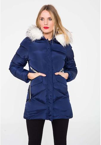 Cipo & Baxx Winterjacke, mit Kunstfell Kapuze kaufen
