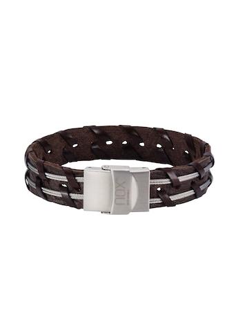 NOX Armband »Leder braun Edelstahl«, Edelstahl Kabel doppelreihig kaufen