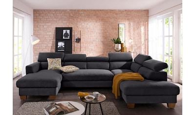 Home Affaire Wohnlandschaft »Steve« Mit Kopfteilverstellung, Auch Mit  Bettfunktion + Bettkasten Kaufen