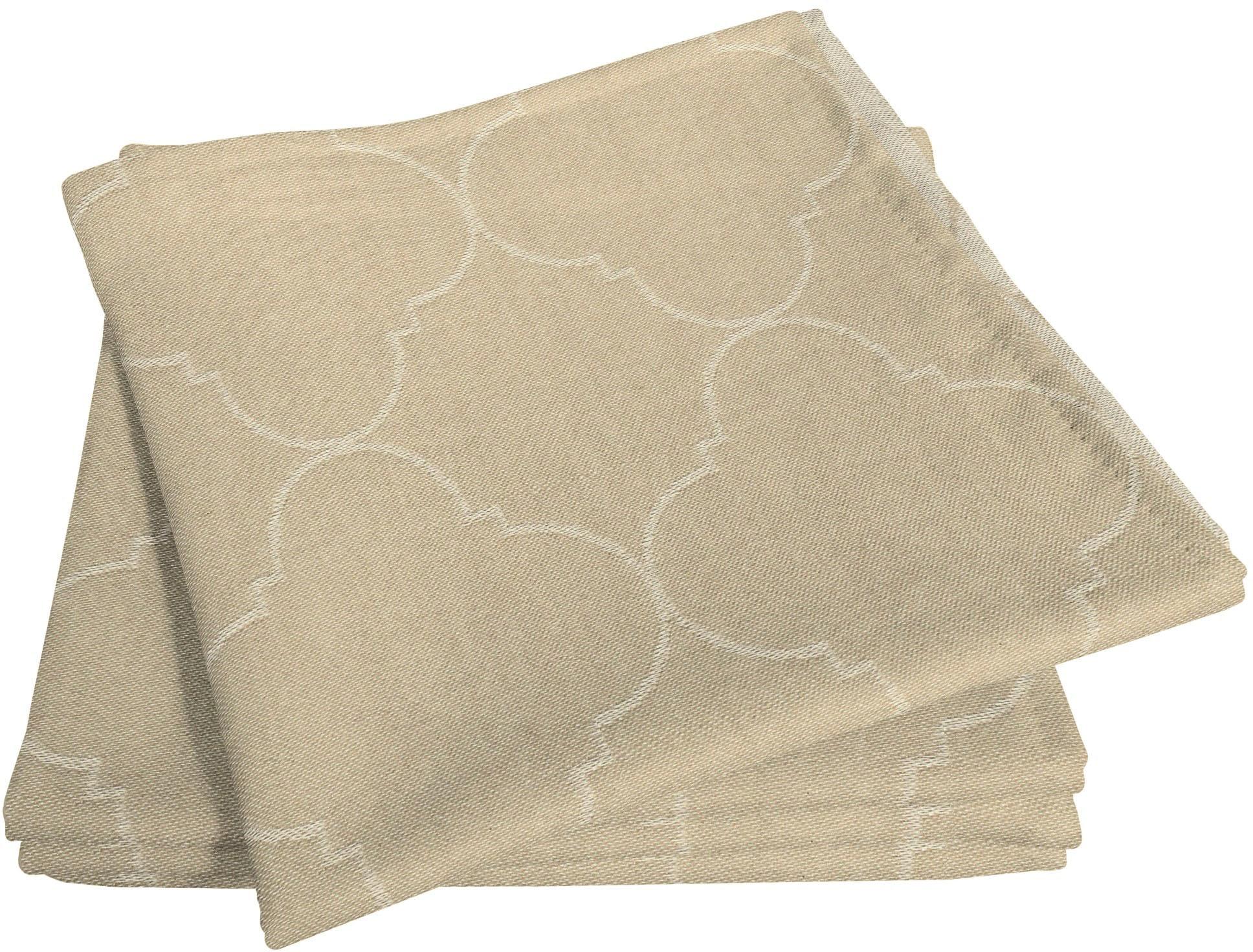 Adam Stoffserviette Indian Cortezada Light, (4 St.), nachhaltig, GOTS zertifiziert beige Stoffservietten Tischwäsche