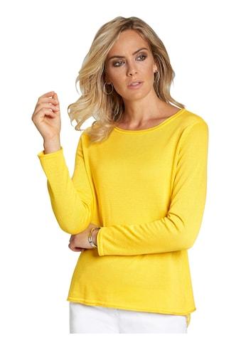 Classic Basics Pullover mit filigraner Spitze kaufen