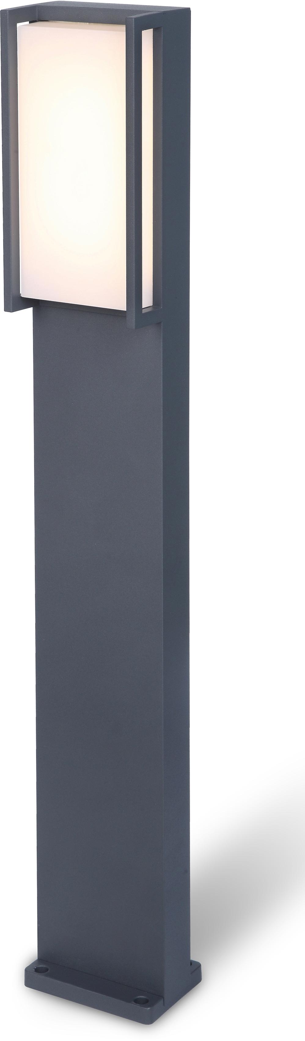 LUTEC LED Pollerleuchte Qubo 7193001118, LED-Modul, 1 St., Warmweiß