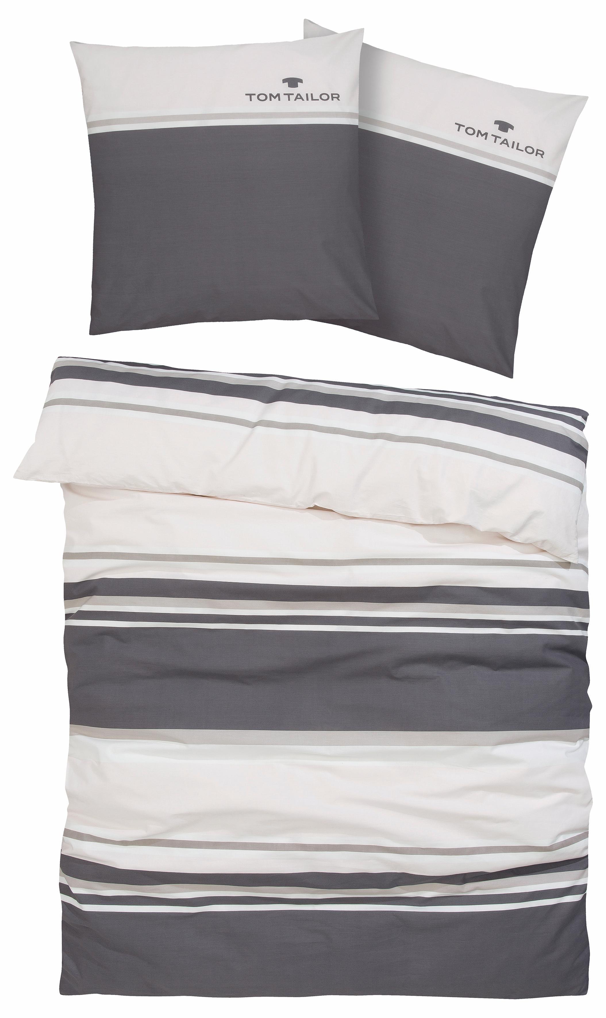 Bettwäsche »Jun«, TOM TAILOR mit auffälligem Logo-Druck | BAUR