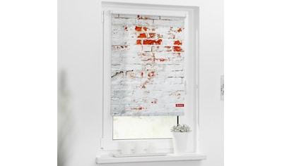 LICHTBLICK Seitenzugrollo »Rollo Klemmfix, ohne Bohren, Verdunkelung, Mauer - Weiß Rot«, verdunkelnd, Verdunkelung, freihängend kaufen