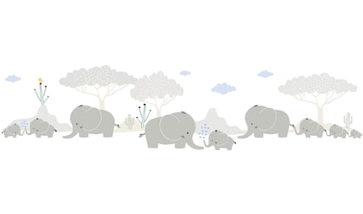 Bordüre »Elephant Family«, für Baby -  und Kinderzimmer, selbstklebend, PVC - frei kaufen
