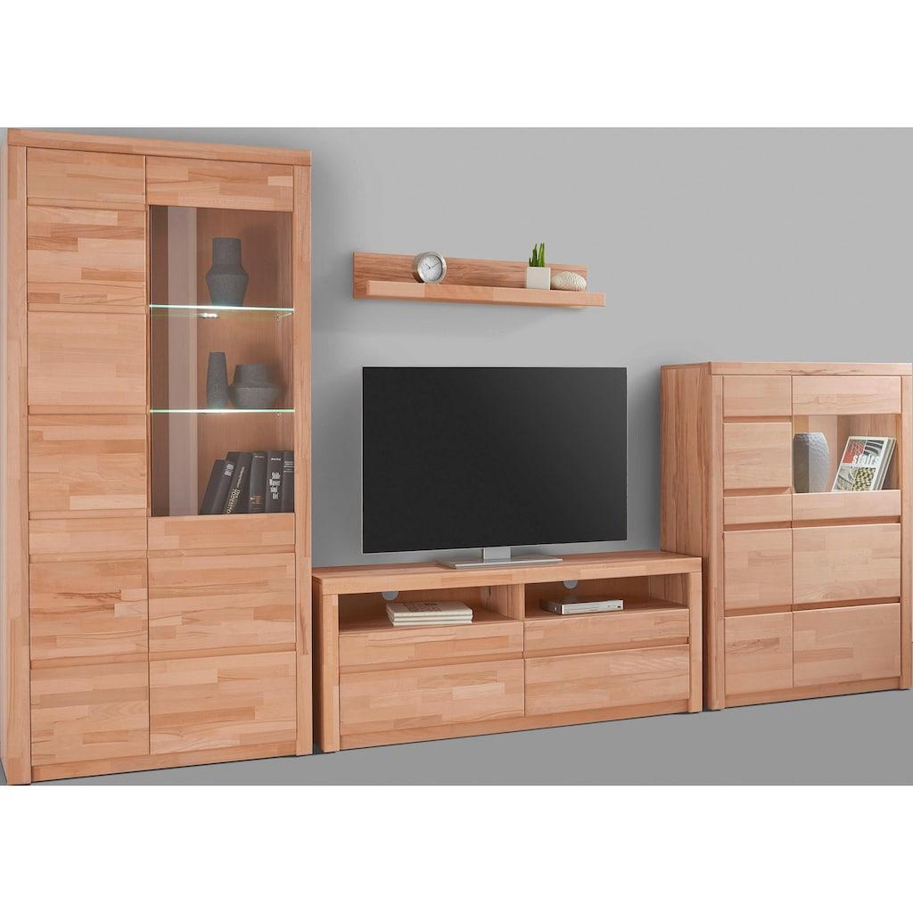 Woltra Wohnwand »Silkeborg«, (Set, 4 St.), teilmassives Holz