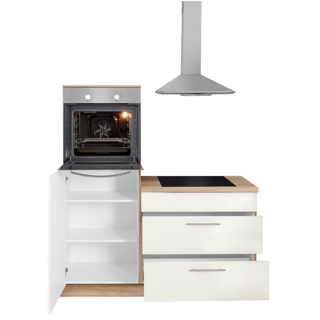 wiho Küchen Winkelküche »Aachen«, ohne E-Geräte, Stellbreite 210 x 220 cm
