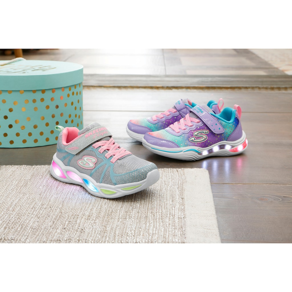 Skechers Kids Sneaker »Blinkschuh Power Petals«, mit Glitzer