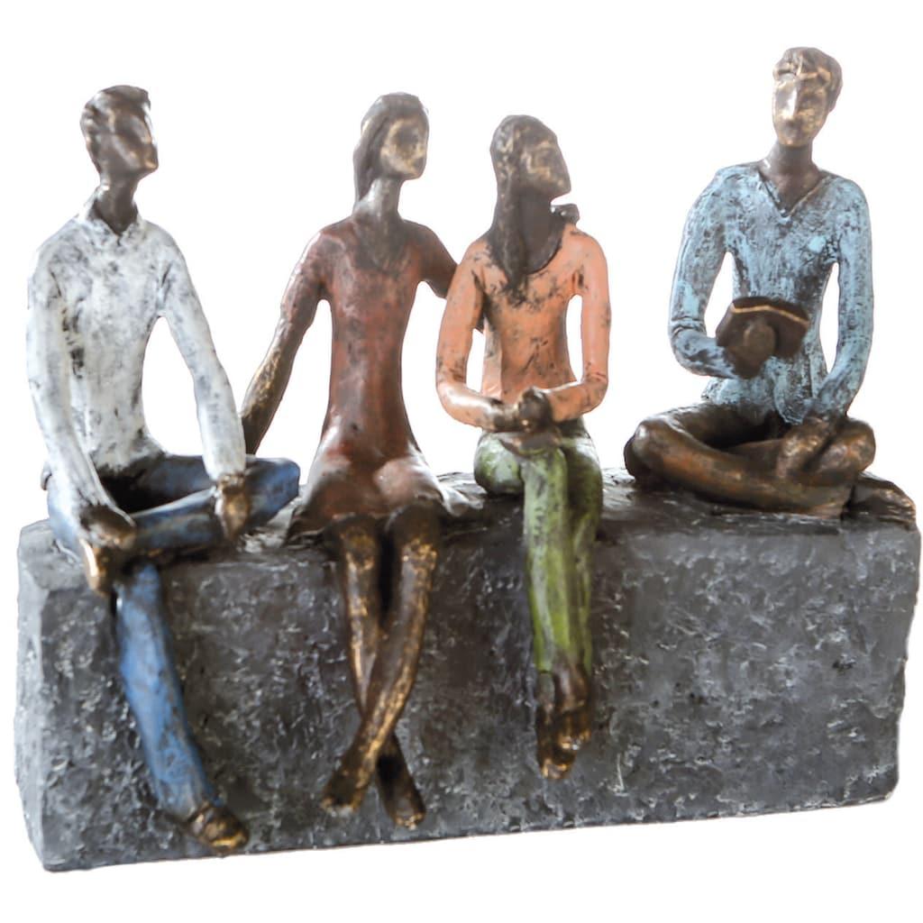 Casablanca by Gilde Dekofigur »Skulptur Network«, Dekoobjekt, Höhe 21 cm, mit Spruchanhänger, Wohnzimmer