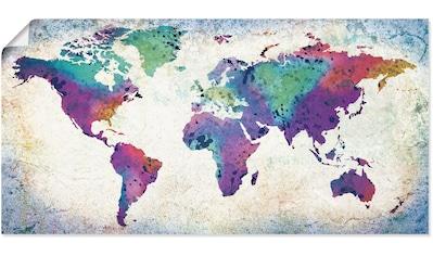 Artland Wandbild »bunte Weltkarte«, Land- & Weltkarten, (1 St.), in vielen Größen &... kaufen