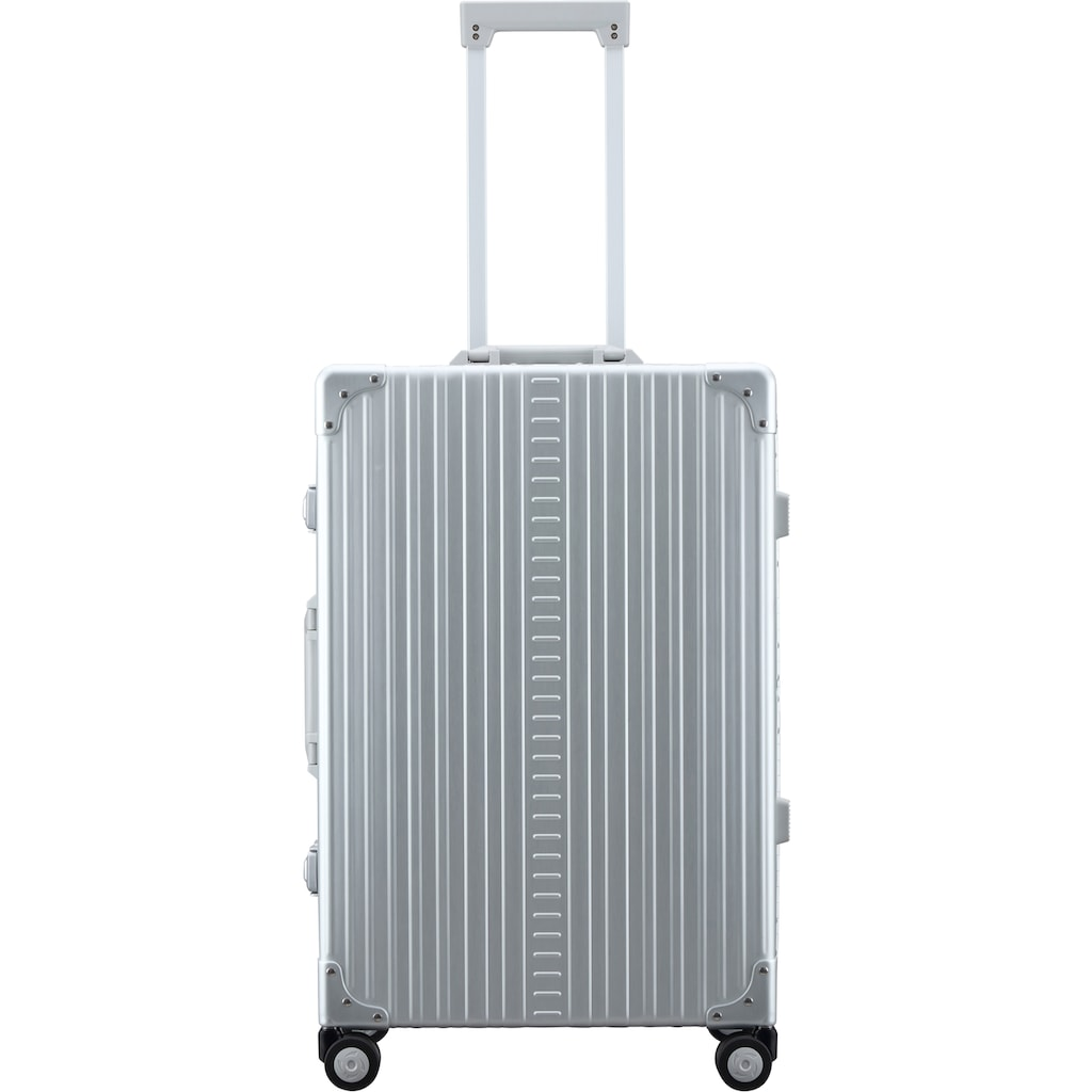 ALEON Hartschalen-Trolley »Aluminiumkoffer Traveler, 67 cm«, 4 Rollen