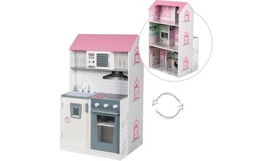 """roba® Spielküche """"2 - in - 1, rosa"""", Holz kaufen"""