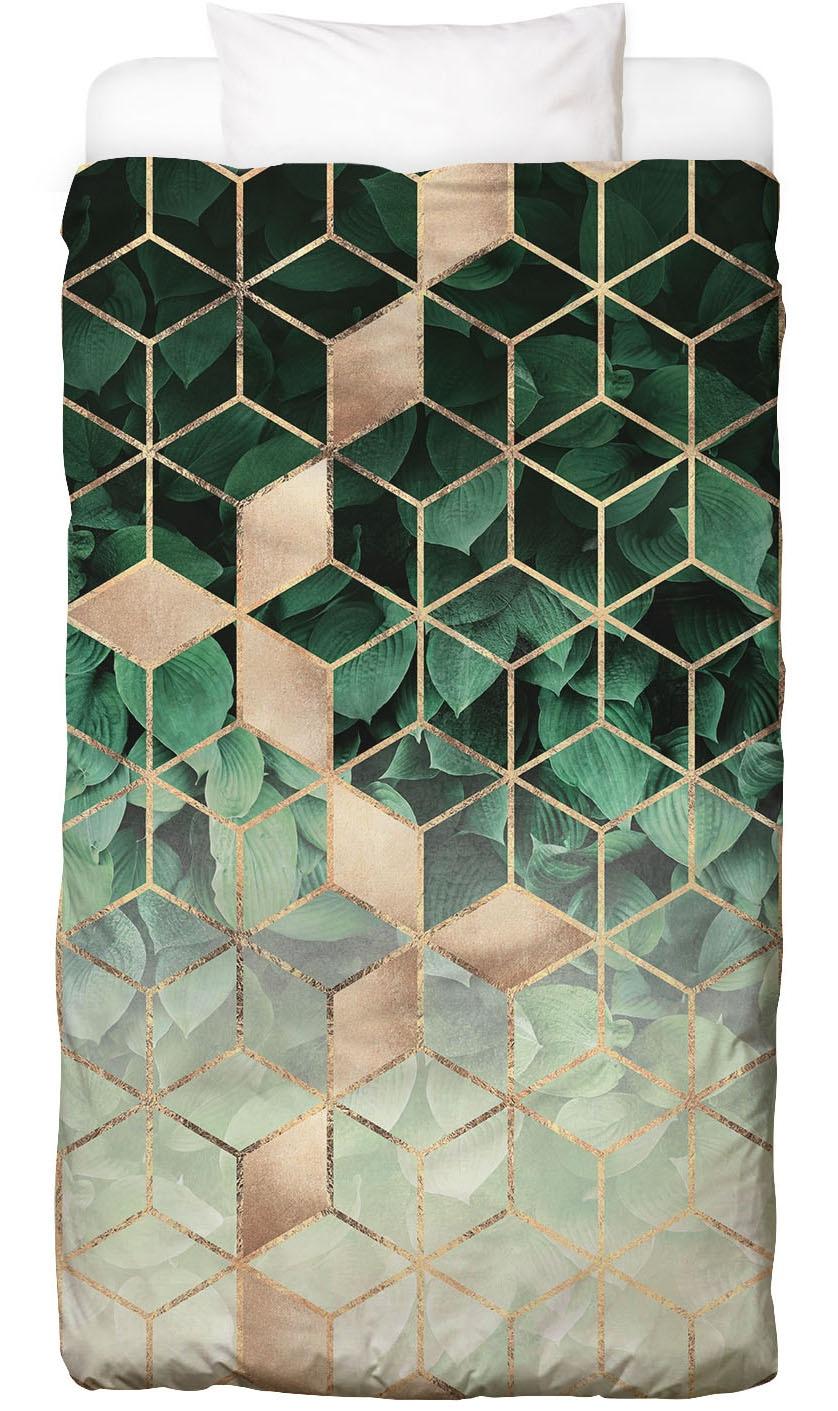 Bettwäsche Leaves & Cubes Juniqe