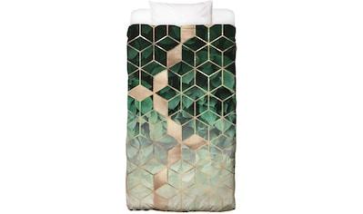 Juniqe Bettwäsche »Leaves & Cubes«, In vielen weiteren Designs erhältlich kaufen