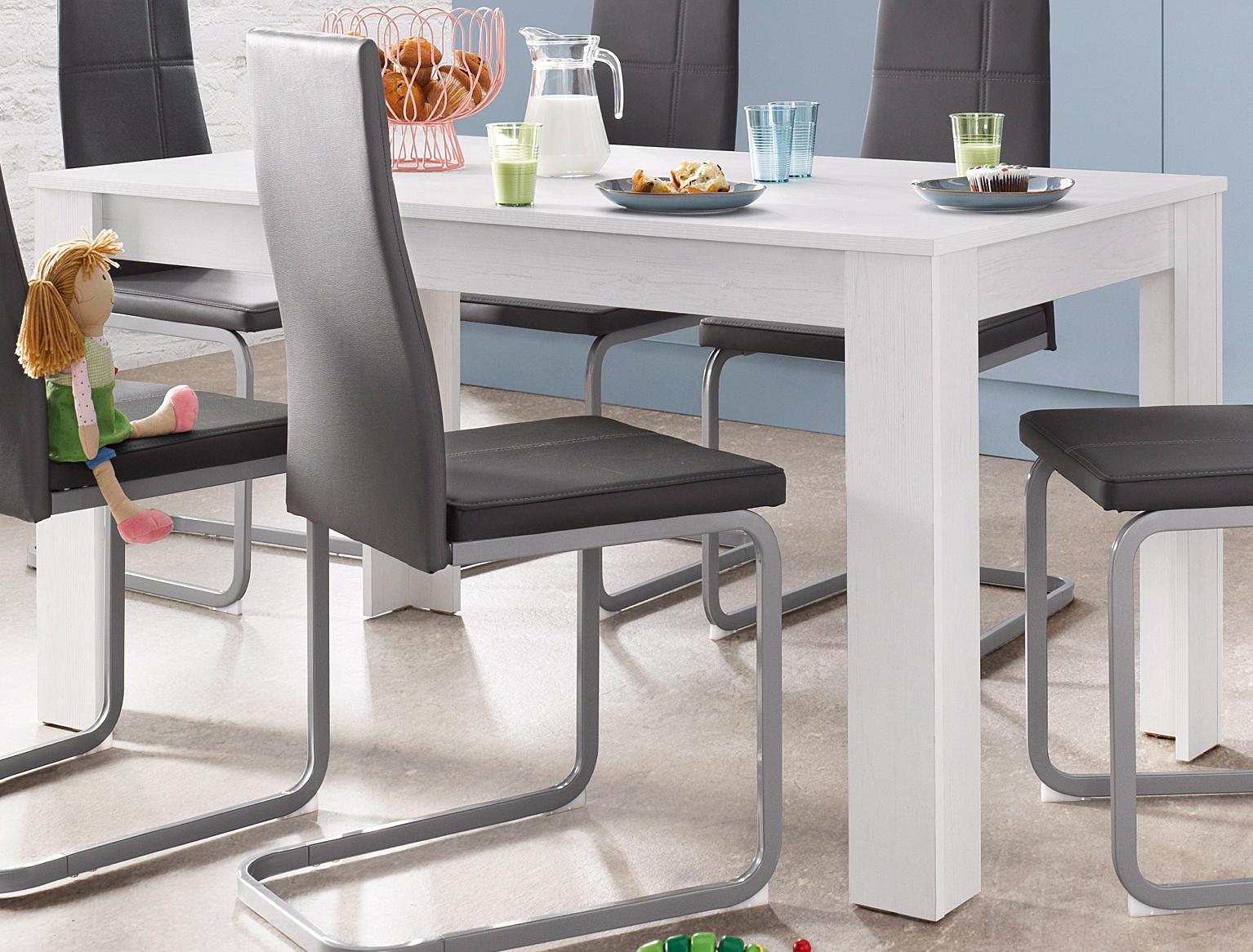 Homexperts Esstisch, Breite 140 cm weiß Esstisch Esstische rechteckig Tische