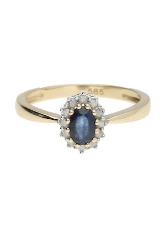 Luigi Merano Goldring »Safir und Diamanten, Gold 585« kaufen