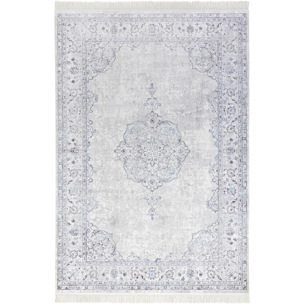 NOURISTAN Teppich »Orient Vintage Medaillon«, rechteckig, 5 mm Höhe, Wohnzimmer