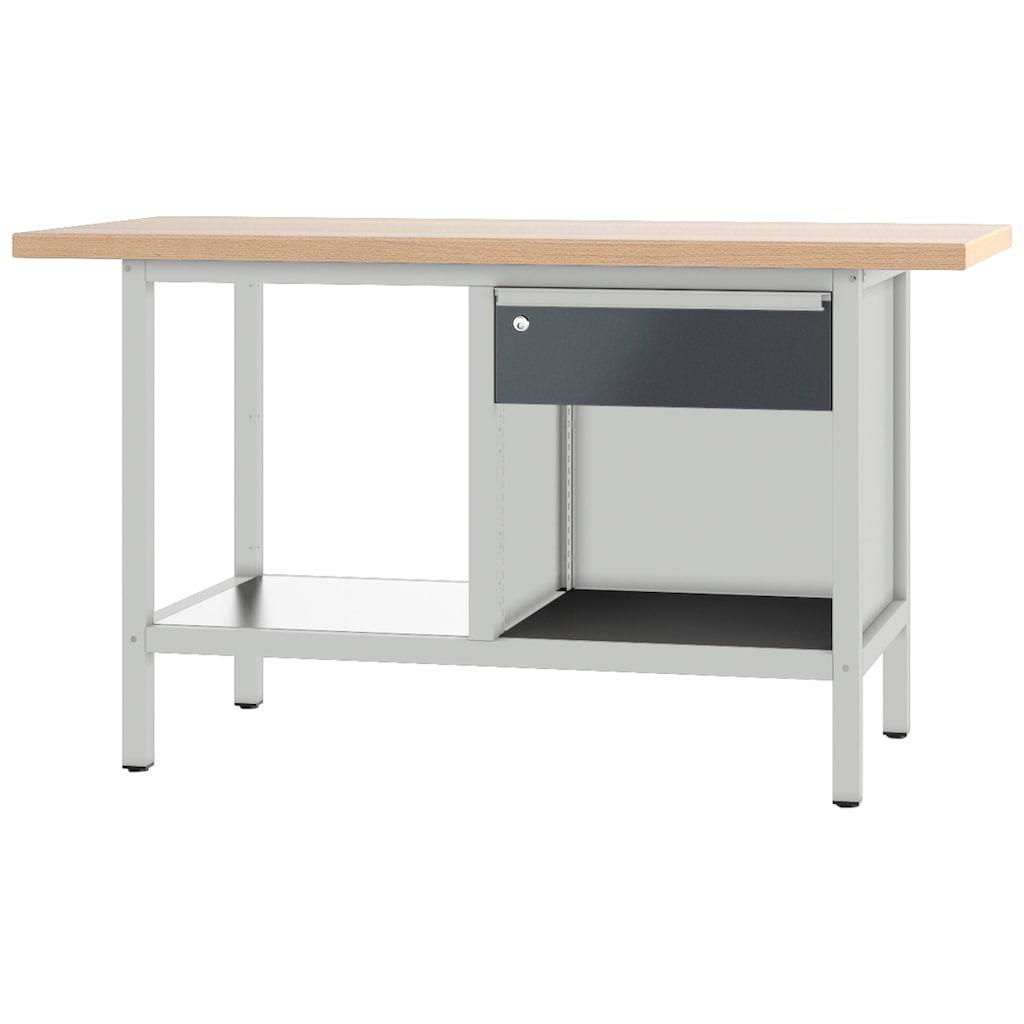 PADOR Werkbank »21 S 01/15 R«, B/T/H: 150x70x85,5 cm