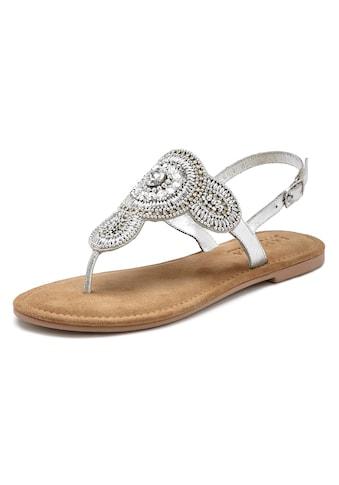 LASCANA Zehensteg-Sandale mit aufwendiger Verzierung und softer Lederinnensohle kaufen