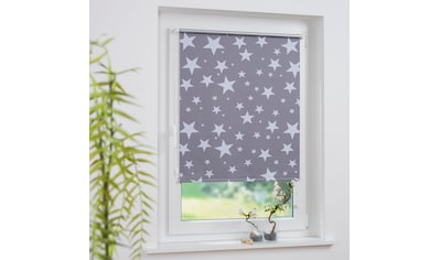 Liedeco Seitenzugrollo »Druckdesign Sterne«, verdunkelnd, energiesparend, ohne Bohren, freihängend, Klemmfix Rollo Design Sterne kaufen