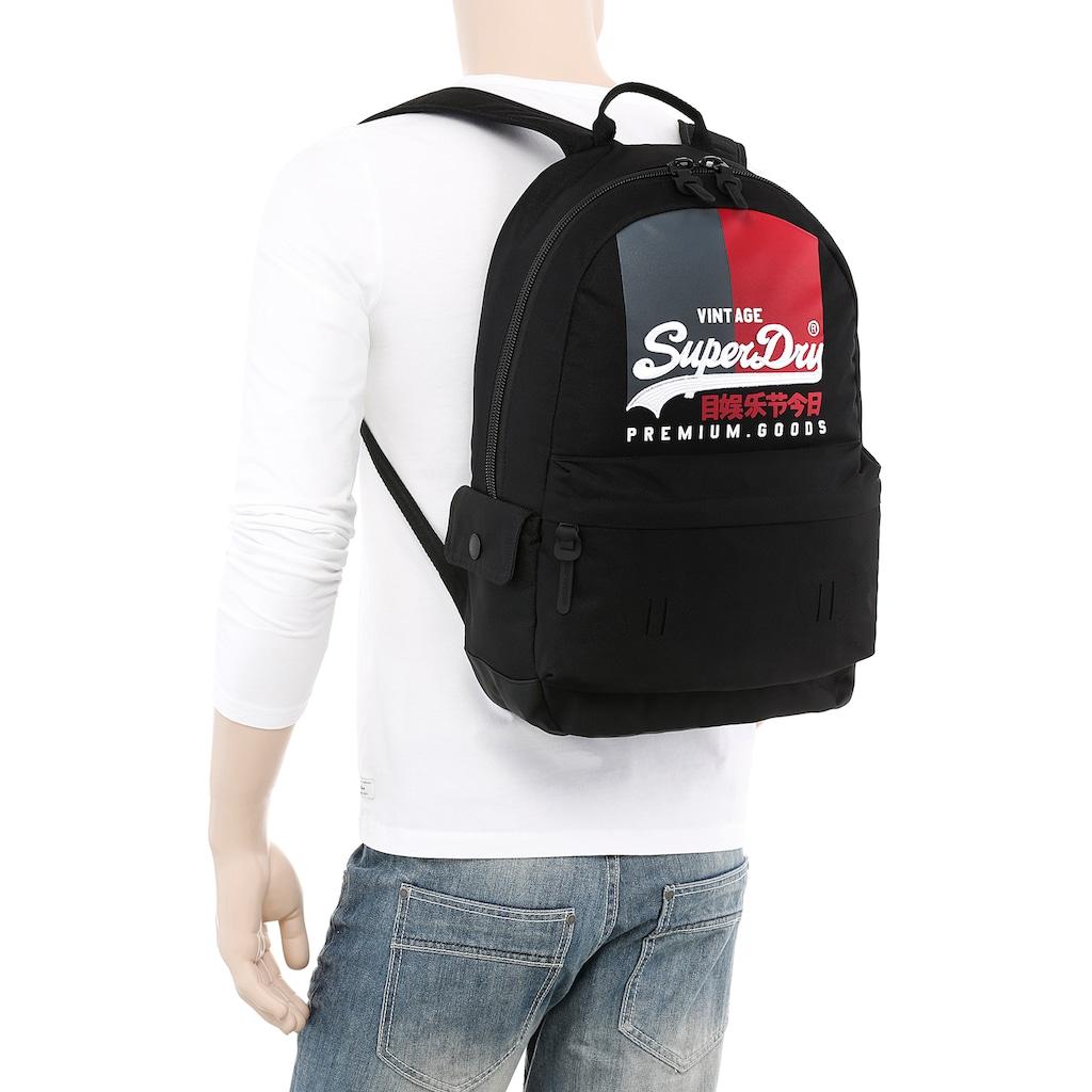 Superdry Cityrucksack, mit modischer Logostickerei