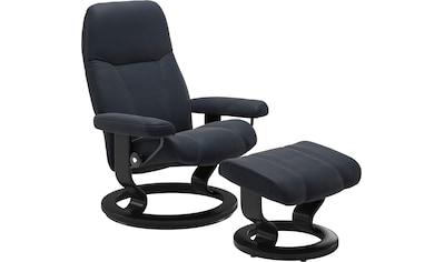 Stressless® Relaxsessel »Consul«, mit Hocker, mit Classic Base, Größe S, Gestell Schwarz kaufen