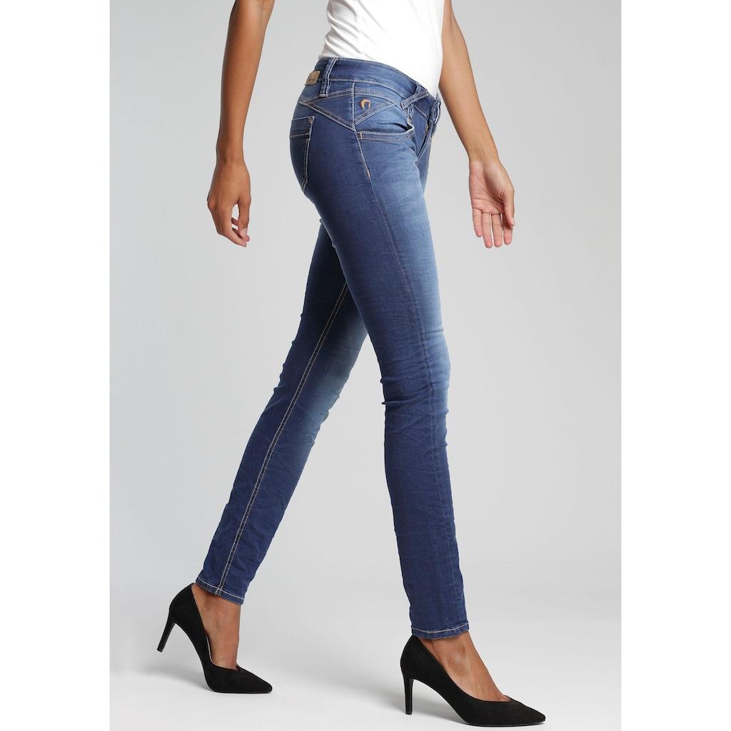 GANG Skinny-fit-Jeans »Nena«, mit Used-Effekten